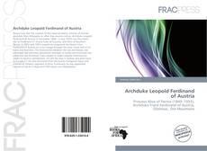 Archduke Leopold Ferdinand of Austria kitap kapağı