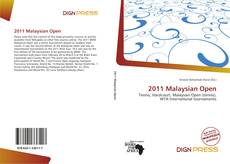 Copertina di 2011 Malaysian Open
