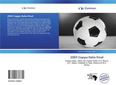 Bookcover of 2003 Coppa Italia Final