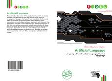 Artificial Language kitap kapağı