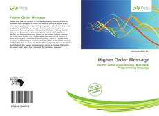 Bookcover of Higher Order Message