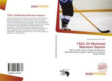 Bookcover of 1924–25 Montreal Maroons Season