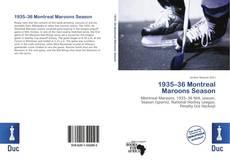 Capa do livro de 1935–36 Montreal Maroons Season