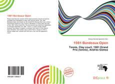Bookcover of 1981 Bordeaux Open