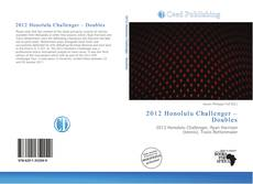 Bookcover of 2012 Honolulu Challenger – Doubles