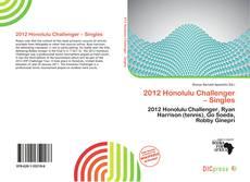 Bookcover of 2012 Honolulu Challenger – Singles
