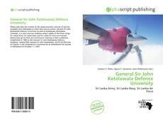 Buchcover von General Sir John Kotelawala Defence University