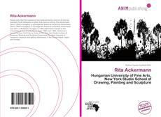 Portada del libro de Rita Ackermann
