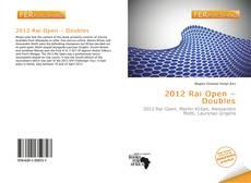 Bookcover of 2012 Rai Open – Doubles