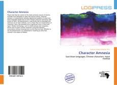 Character Amnesia kitap kapağı