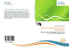 Buchcover von 2012 Tallahassee Tennis Challenger