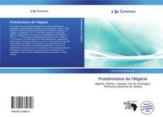Portada del libro de Protohistoire de l'Algérie