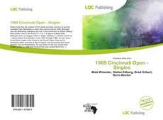 1989 Cincinnati Open – Singles的封面