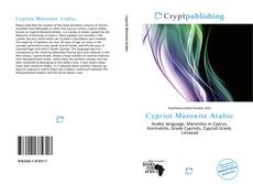 Capa do livro de Cypriot Maronite Arabic