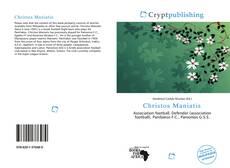 Portada del libro de Christos Maniatis