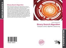 Capa do livro de Binary Search Algorithm