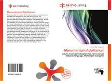 Bookcover of Monumentum Adulitanum