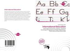 Bookcover of International Education