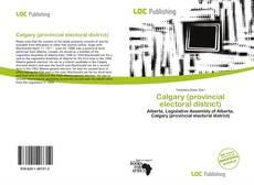 Capa do livro de Calgary (provincial electoral district)