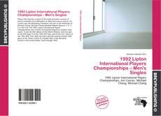 Bookcover of 1992 Lipton International Players Championships – Men's Singles