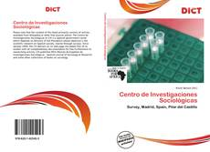 Bookcover of Centro de Investigaciones Sociológicas
