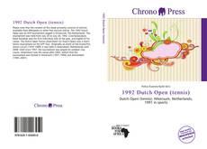 Buchcover von 1992 Dutch Open (tennis)