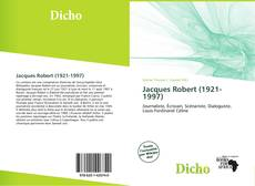 Bookcover of Jacques Robert (1921-1997)