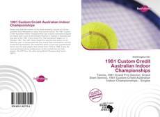 1981 Custom Credit Australian Indoor Championships kitap kapağı