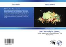 Bookcover of 1992 Italian Open (tennis)