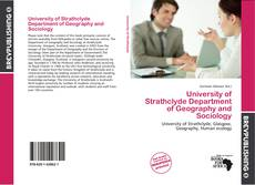 Buchcover von University of Strathclyde Department of Geography and Sociology