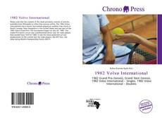 Bookcover of 1982 Volvo International