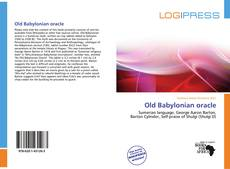 Bookcover of Old Babylonian oracle