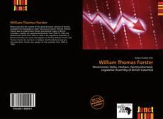 William Thomas Forster kitap kapağı