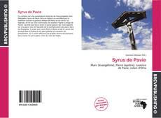 Bookcover of Syrus de Pavie