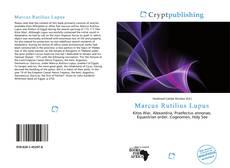 Marcus Rutilius Lupus kitap kapağı