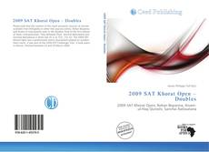 Bookcover of 2009 SAT Khorat Open – Doubles