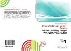 Portada del libro de 2009 SAT Khorat Open – Singles
