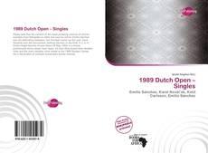 Обложка 1989 Dutch Open – Singles