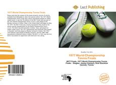 Bookcover of 1977 World Championship Tennis Finals