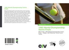 Bookcover of 1983 World Championship Tennis Finals