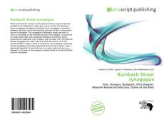 Bookcover of Rumbach Street synagogue
