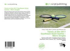 Capa do livro de Tennis at the 2011 Southeast Asian Games – Men's Singles
