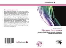 Dionysus Aesymnetes kitap kapağı