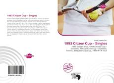 Bookcover of 1993 Citizen Cup – Singles