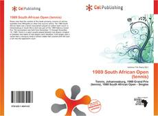 Capa do livro de 1989 South African Open (tennis)