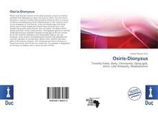 Osiris-Dionysus kitap kapağı