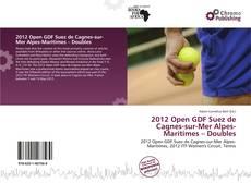 Bookcover of 2012 Open GDF Suez de Cagnes-sur-Mer Alpes-Maritimes – Doubles