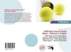Обложка 1988 New South Wales Open – Women's Singles