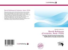 Capa do livro de David Robinson (Cricketer, born 1938)