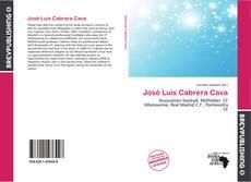 Buchcover von José Luis Cabrera Cava
